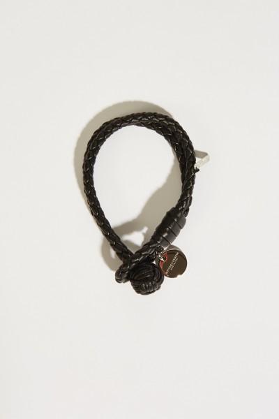 Geflochtenes Armband Schwarz