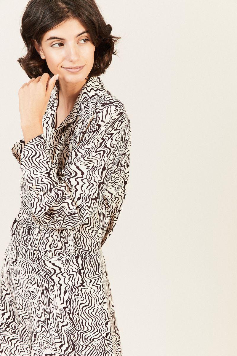 Kleid mit Print Beige/Braun
