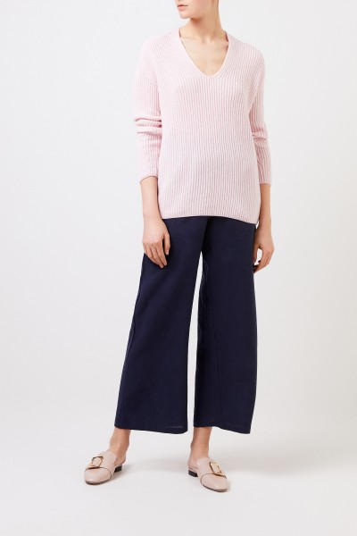 Cashmere sweater with v-neck Pink