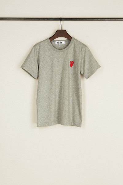 T-Shirt mit Herz-Emblem Grau