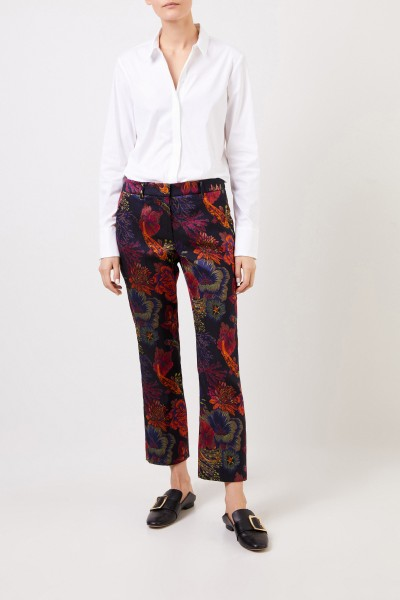 Trousers 'Anni' with floral print Black/Multi
