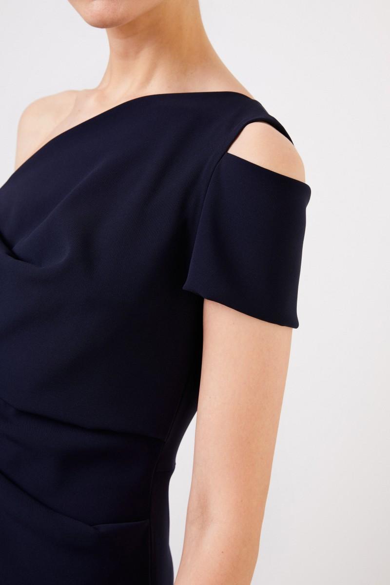 One-Shoulder Jumpsuit Marineblau