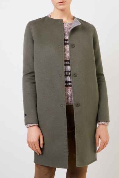 Manzoni 24 Wool-cashmere coat green