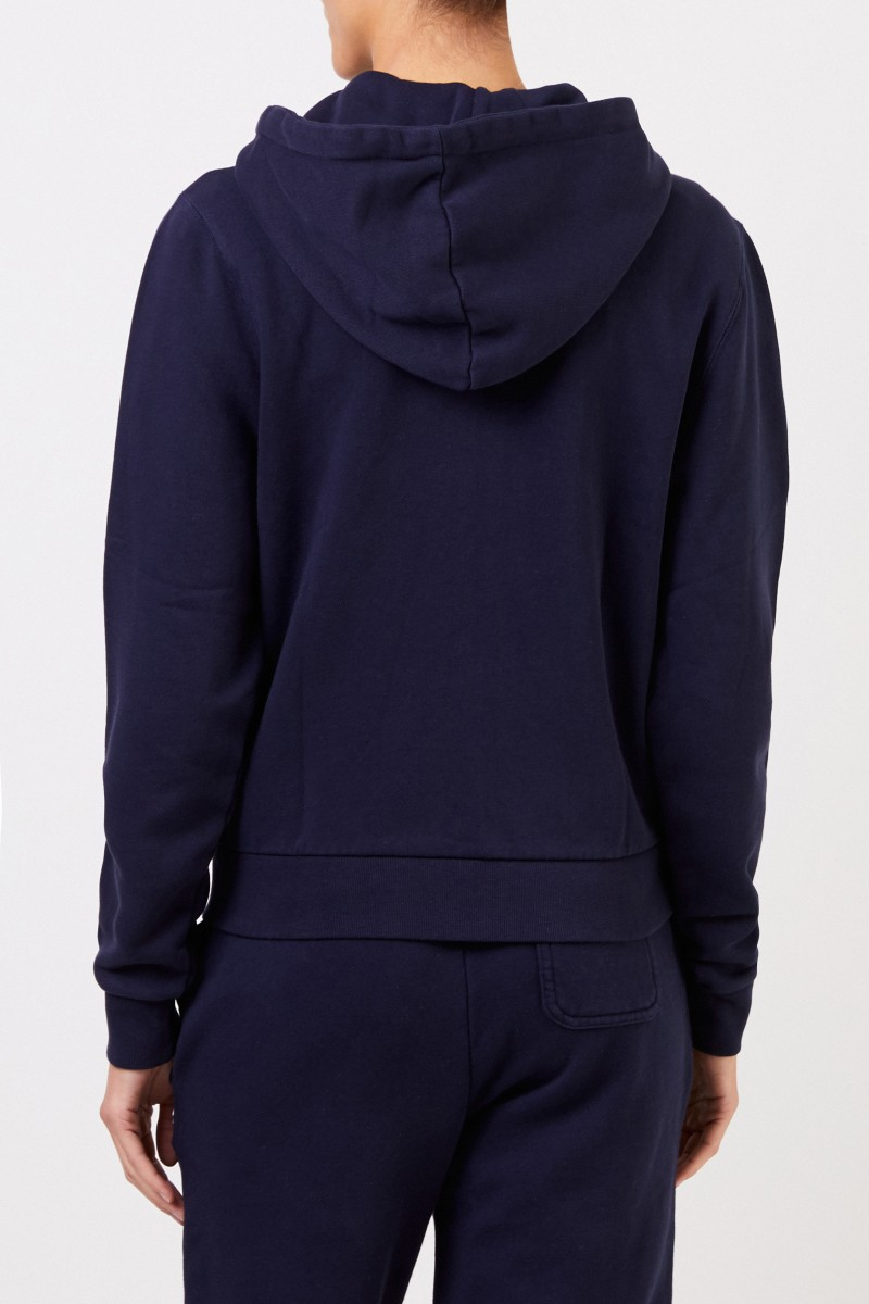 Hoodie 'Tricolor Fox Patch' mit Kapuze Marineblau