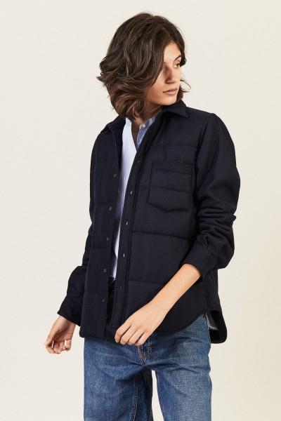 Cashmere-Mantel Blau