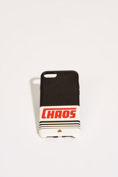 IPhone Case 7/8 mit Logo-Schriftzug Schwarz/Multi