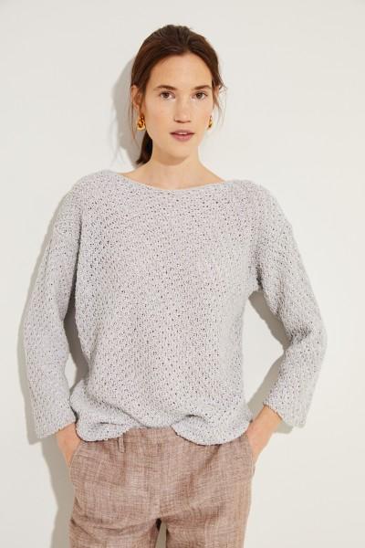 Pullover mit Paillettendetails Grau