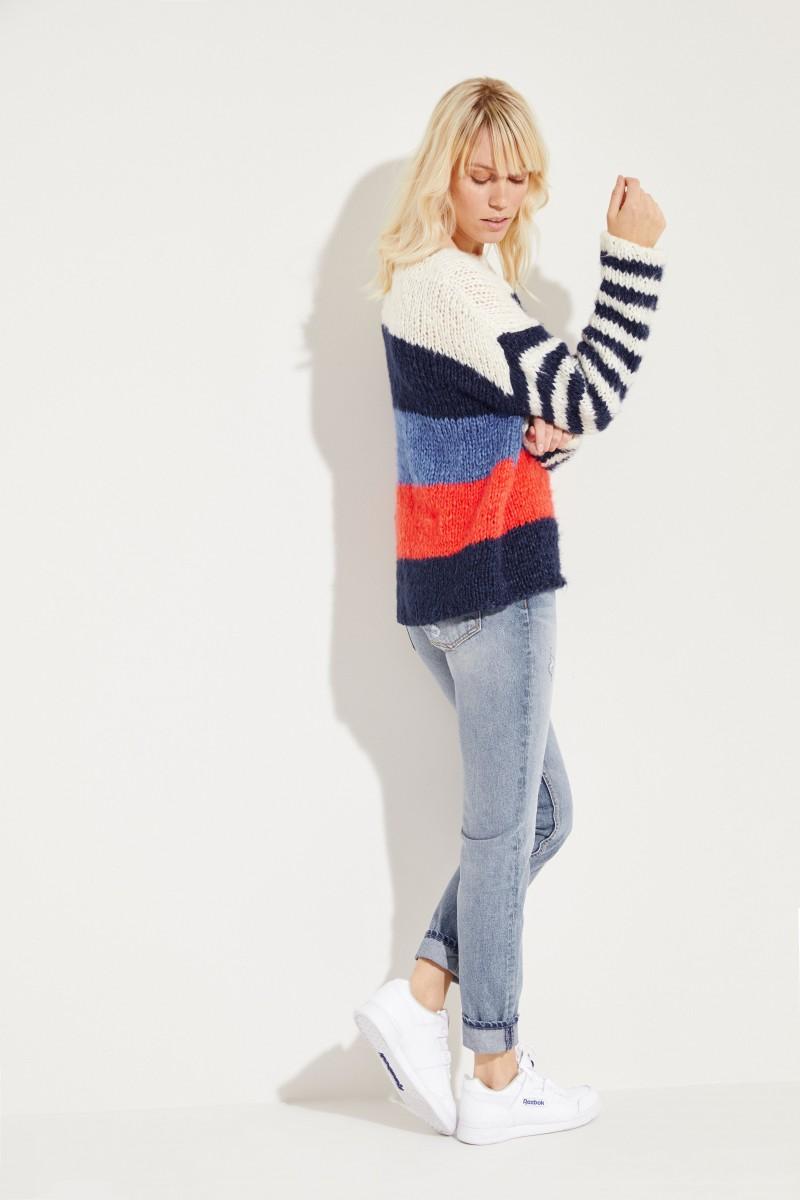 Seiden-Leinen-Pullover 'Shannan' Multi