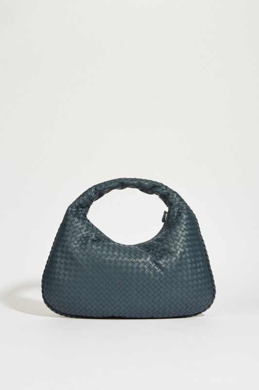 Geflochtener Shopper 'Veneta Hobo Big' Blau