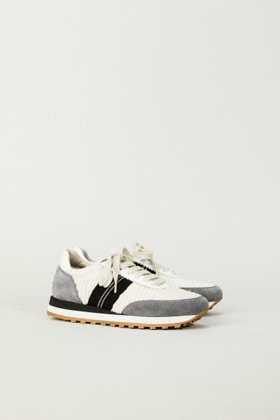 Sneaker mit Perlenverzierung Beige/Grau