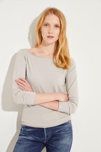Pullover mit Lurexdetails Grau