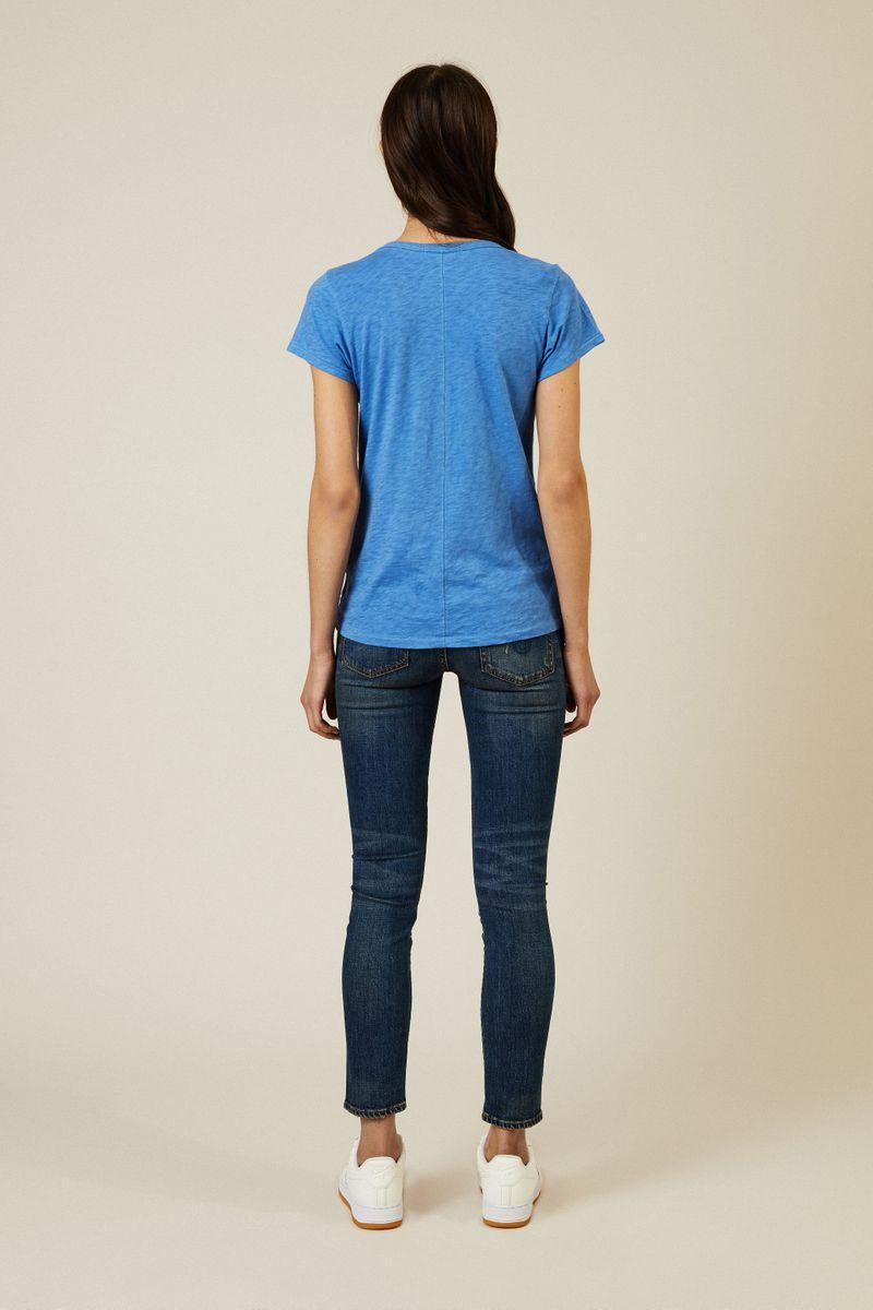 Basic-T-Shirt Blau