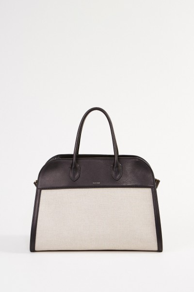 The Row Tasche 'Margaux15' Natural/Schwarz