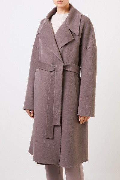 Iris von Arnim Cashmere coat 'Eirin' with belt Blue