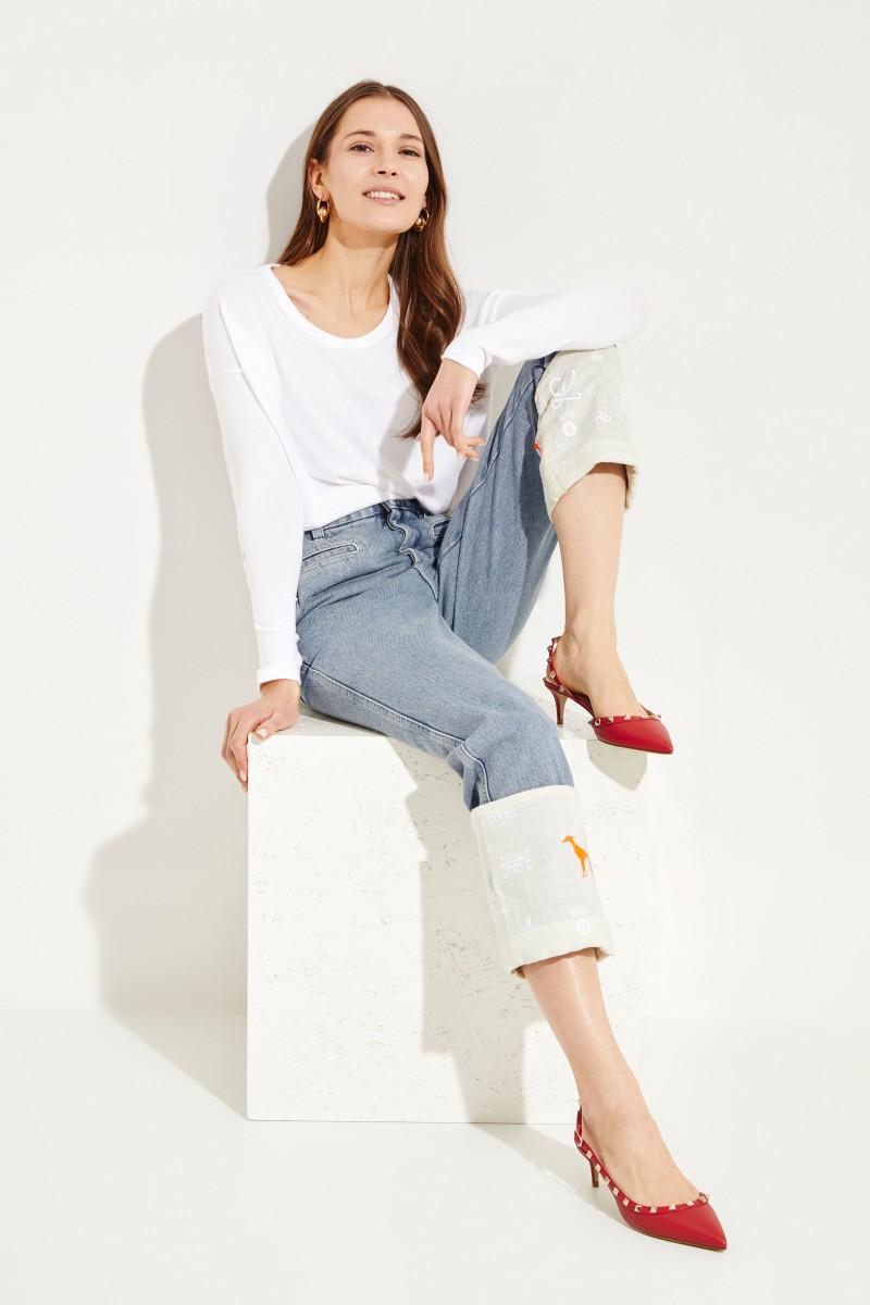 Loewe Jeans mit umgeschlagenen Säumen Blau