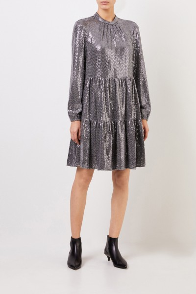 Dress with sequin details Silver