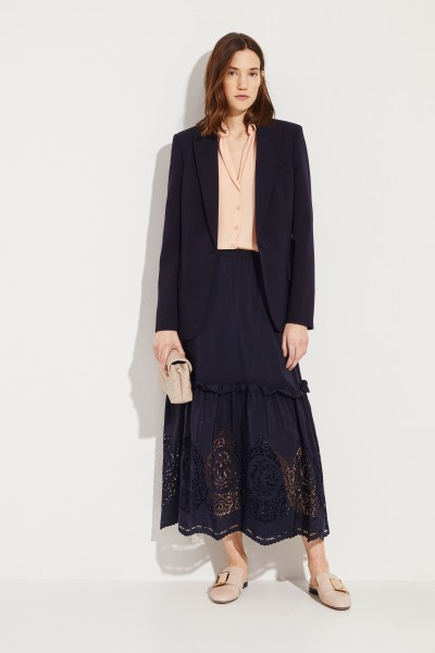 Stella McCartney Waisted Wool Blazer Blue