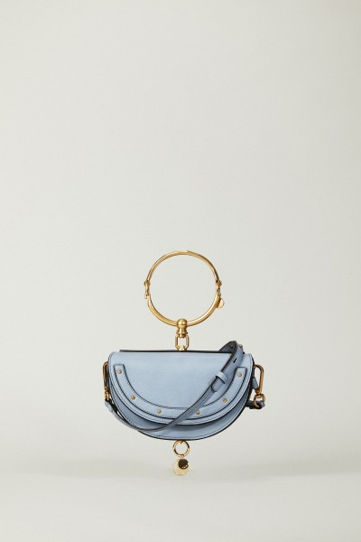 Clutch 'Nile Minaudiere' Washed Blue