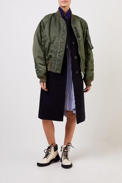 Mantel mit integrierter Bomberjacke Marineblau/Khaki