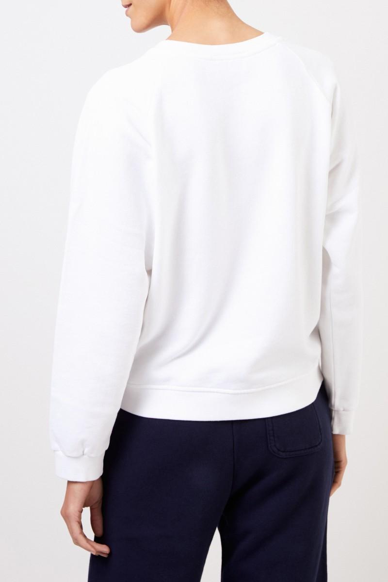 Maison Kitsuné Sweatshirt 'Fox Head Patch' Weiß