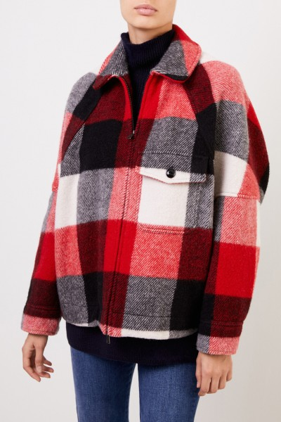 Woolrich Wool jacket 'Buffalo' with check pattern Red/Multi