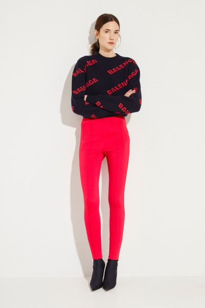 Balenciaga Elastic trousers with logo red