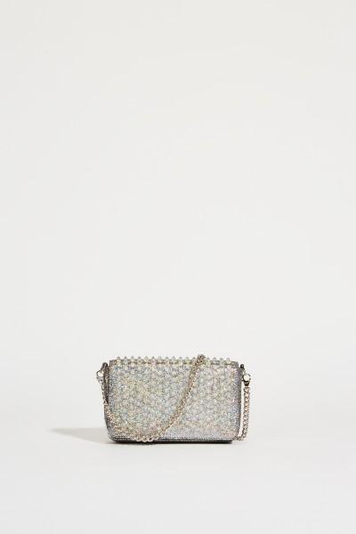 Mini-Umhängetasche 'Zoompouch' mit Nieten Silber
