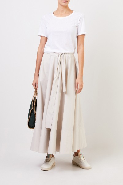 Long skirt with tie detail Beige