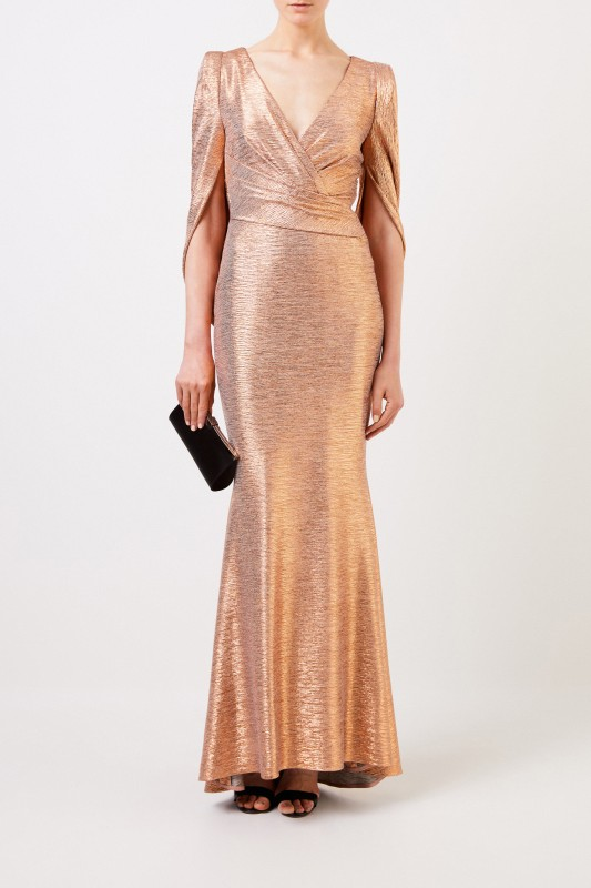 Talbot Runhof Abendkleid 'Rosin12' Gold