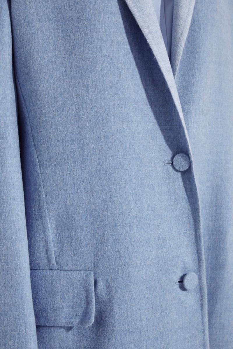 Cashmere-Mantel Hellblau