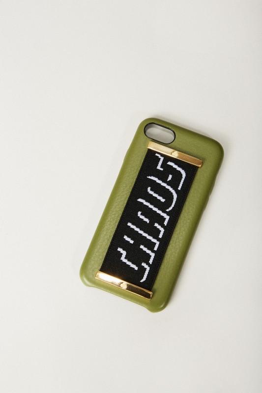 Iphone 7/8 Case 'Hand Hug' Khaki