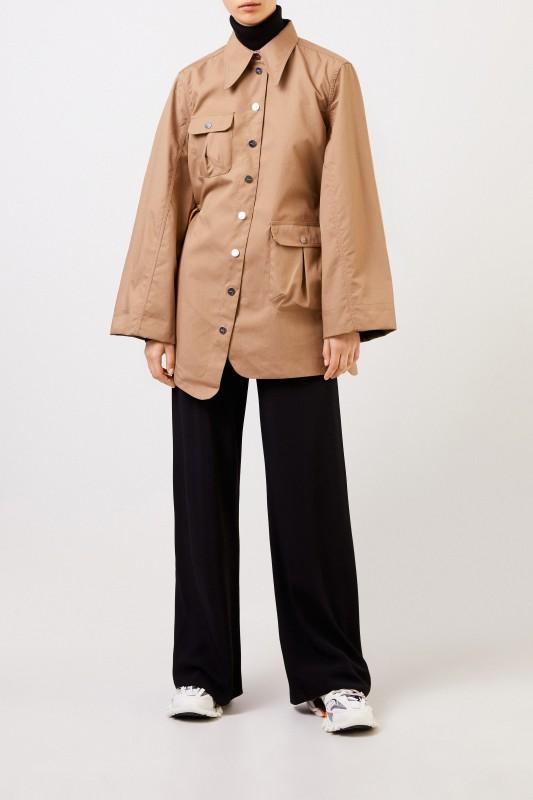 Double Cotton Trenchcoat Beige/Khaki