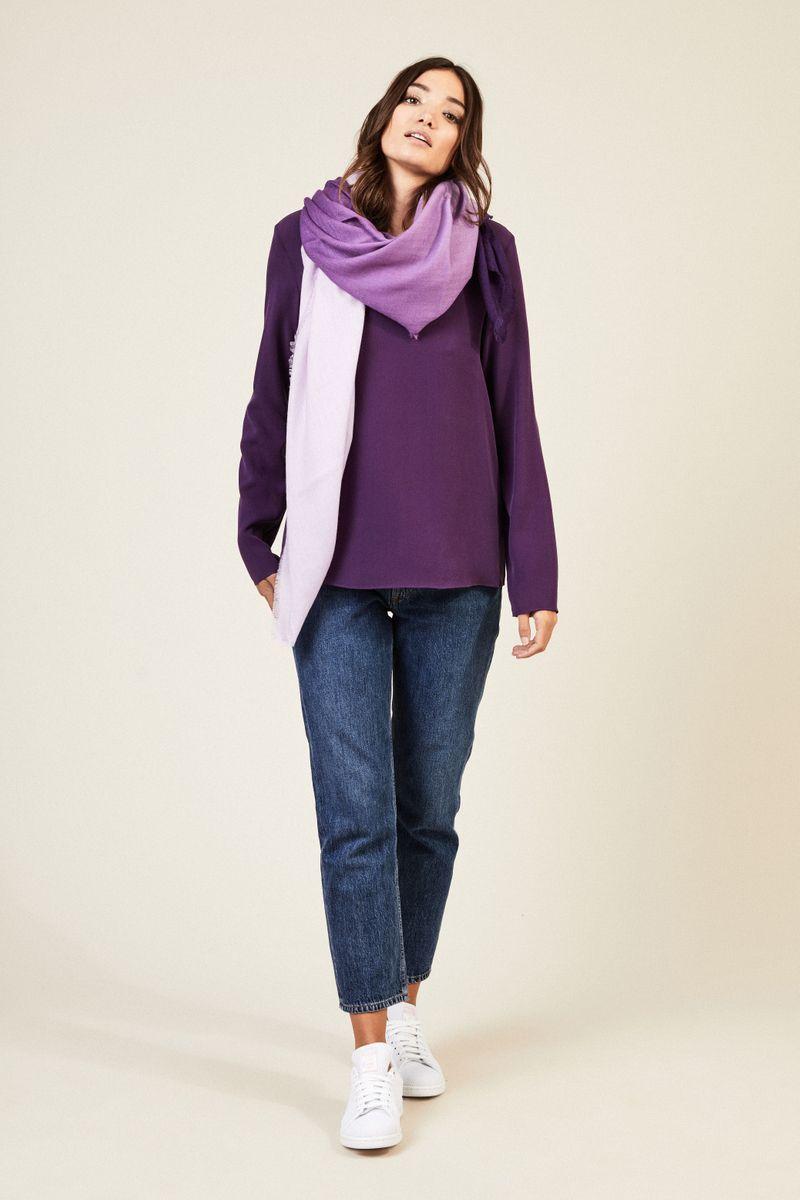 Seidenbluse 'Missouri' Violett