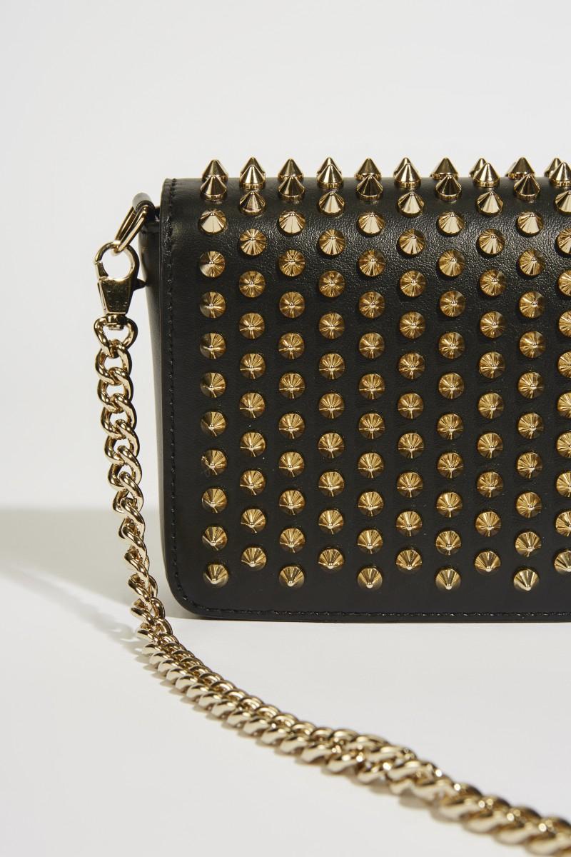 707dbec27dbe Mini shoulder bag 'Zoompouch' with rivets black | Shoulder bags ...