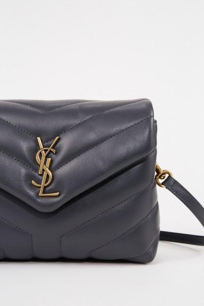Saint Laurent Shoulder bag 'Pouche Monogramm' Grey/Gold
