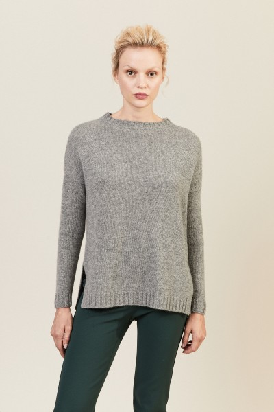 Oversize Cashmere-Pullover Anthrazit