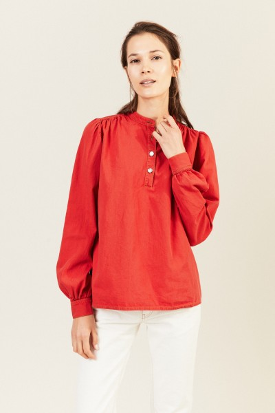Jeans-Bluse Rot