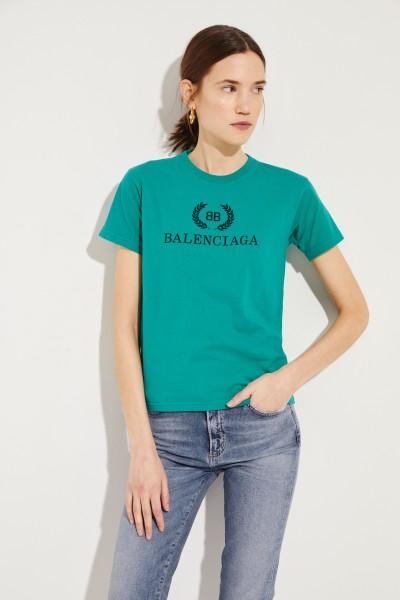 Shirt mit Logo-Schriftzug Grün