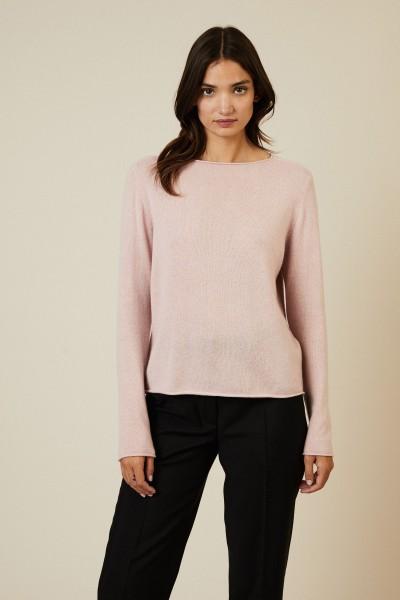 Rundhals-Cashmere-Pullover Rosé