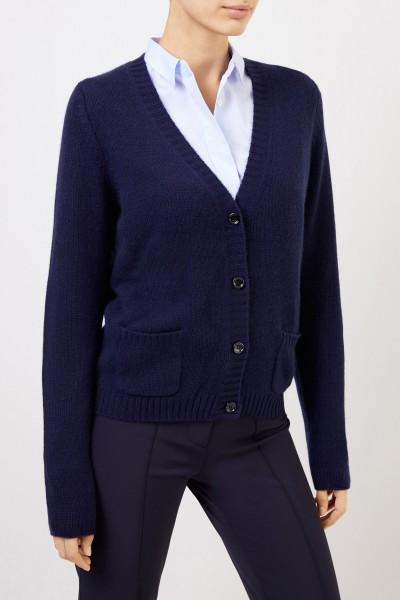 Allude Cashmere-Cardigan Marineblau