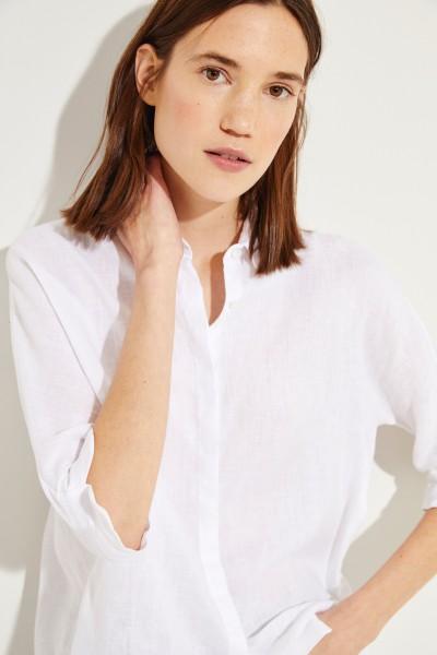 Leinen-Bluse Weiß
