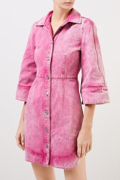 Ganni Kleid im Washed Denim Fuchsia