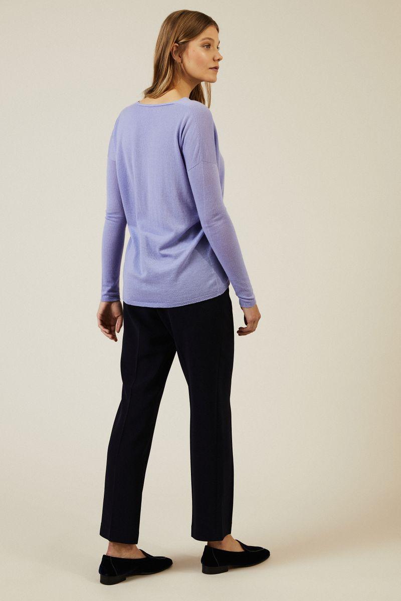 Leichter Cashmere-Pullover 'Lisa' Flieder