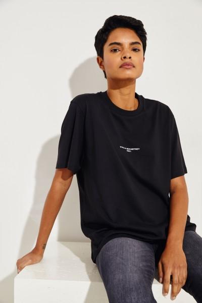 T-Shirt mit Logo-Aufdruck Schwarz