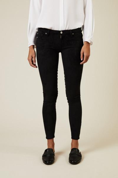 Jeans in Wildlederoptik 'The Skinny' Schwarz