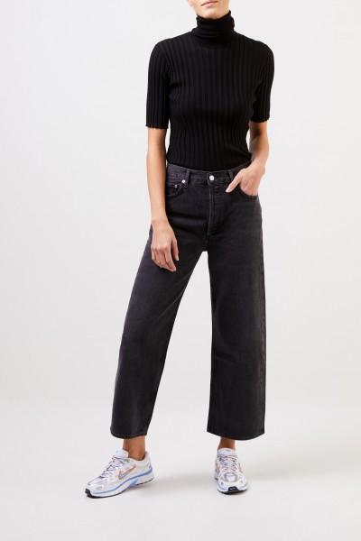 AGOLDE High-Rise Jeans 'Ren Wide Leg' Anthrazit
