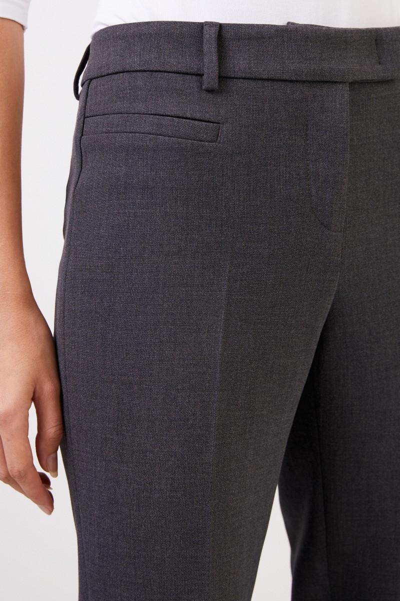 Cappellini Klassische Hose mit Schlitzen Grau