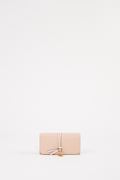 Leather wallet' Alphabet' Blush Nude