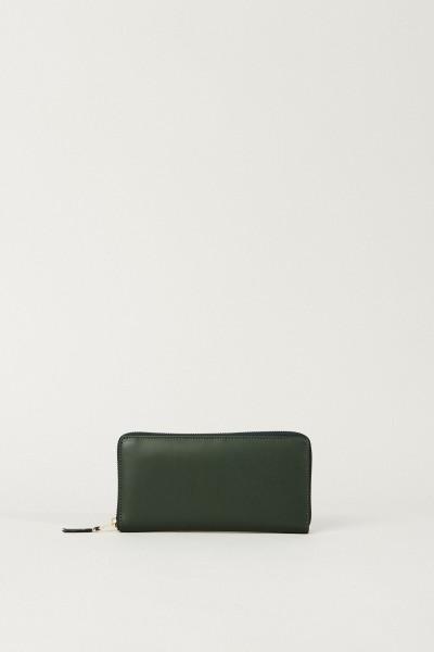 Leder-Portemonnaie Grün