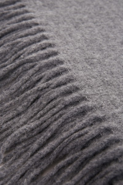 Acne Studios Classic wool scarf 'Canada New' Grey Mottled